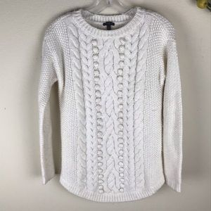 TALBOTS Petite Cable knit pullover sweater size P